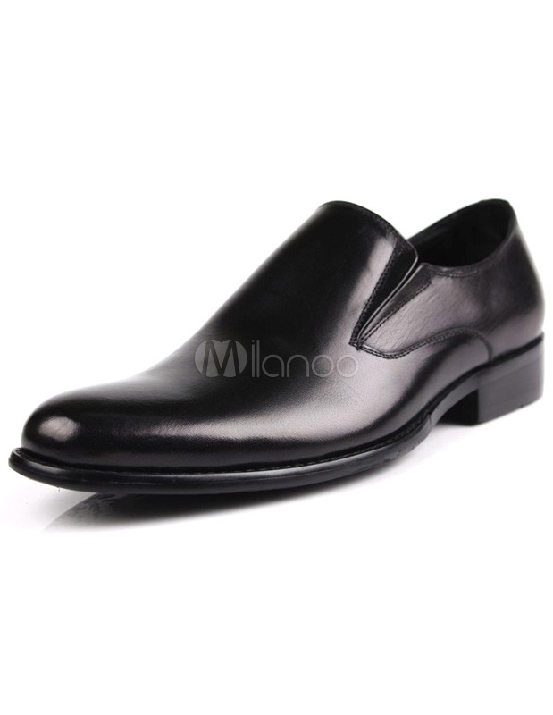 Zapatos negros de punta redonda formales para hombre 6zHPu7S