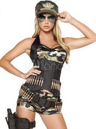 Traje de camuflaje para disfraz de policía de estilo sexy - Milanoo.com 1f01f3ff1db