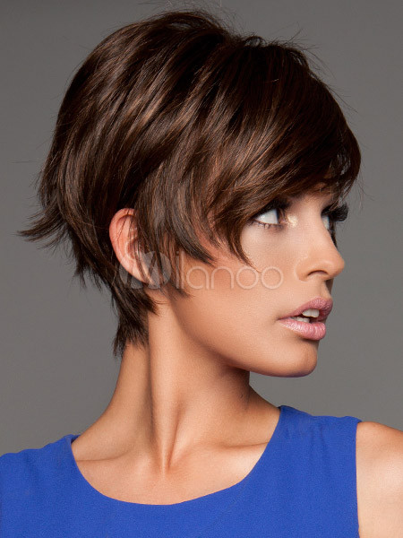 Coupe cheveux court marron