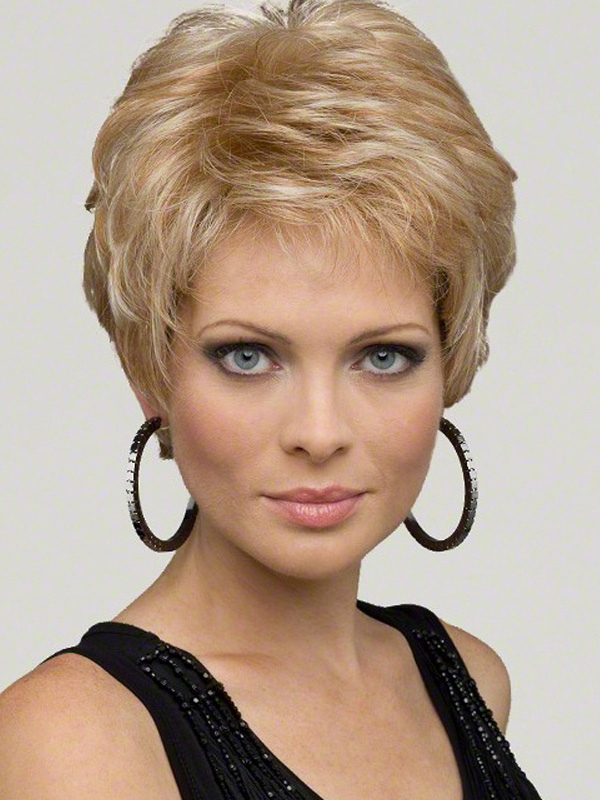Blonde Curly Synthetic Women's Short Wig