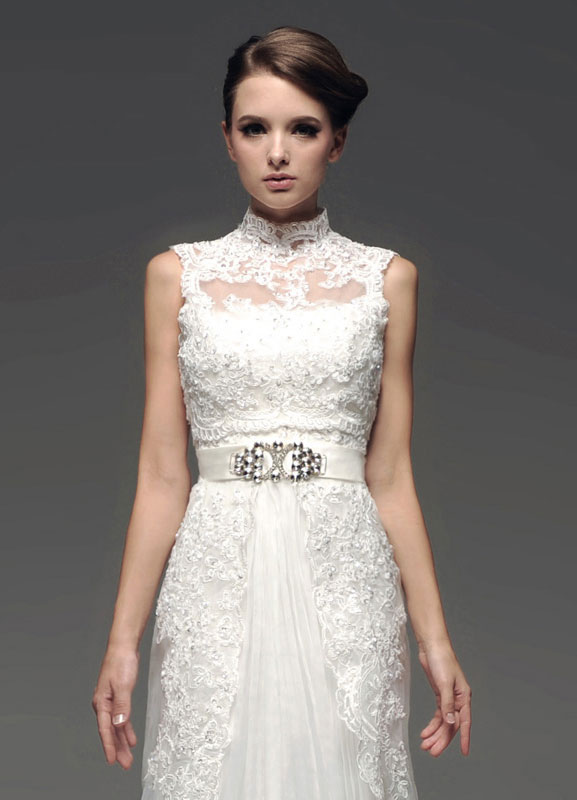 Ivory Lace Sleeveless Tulle Bridal Wedding Tank Top
