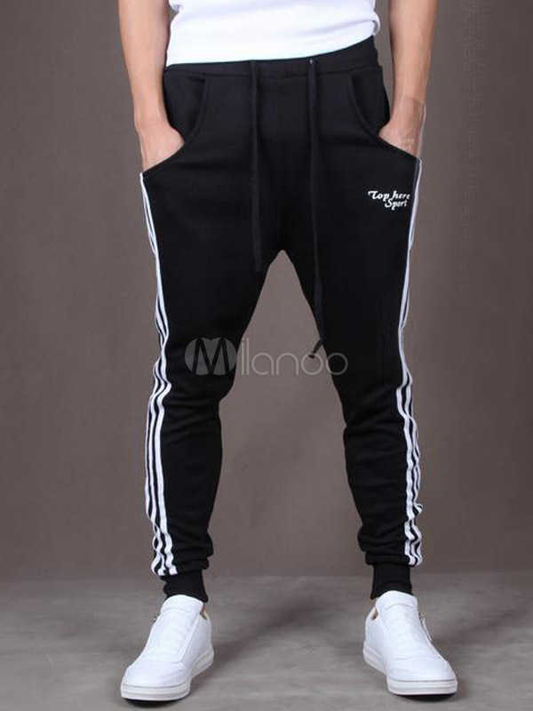 acd8337cb325 Cotton Flax For Running Fashion Men s Athletic Pants - Milanoo.com