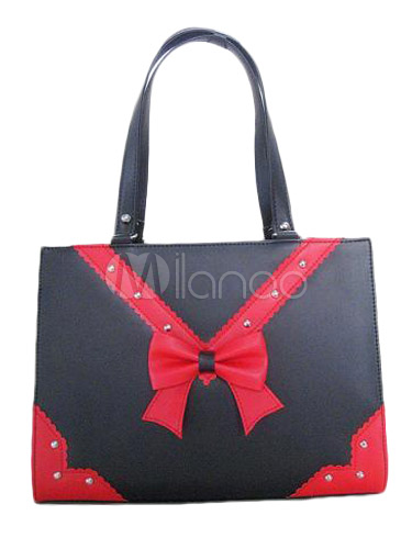 Glamorous Black PVC Lolita Bag