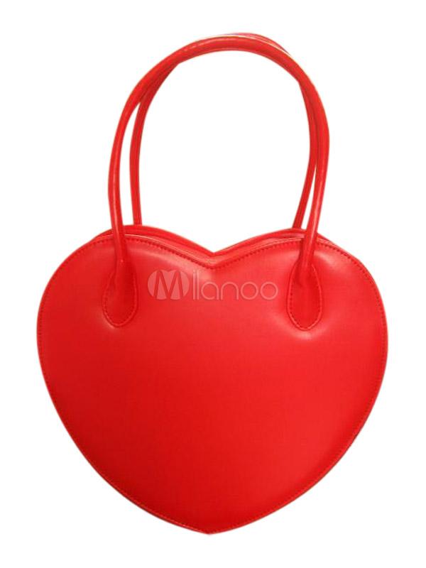 Buy Heart Shaped Lovely PVC Lolita Bag for $31.99 in Milanoo store