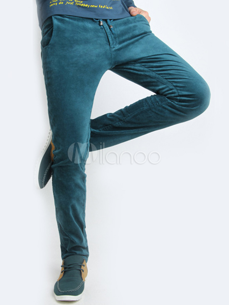 Homme Velour Pantalon Velour Skinny Pantalon w0PnOk