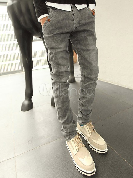 Style jeans homme - Jean gris clair homme ...