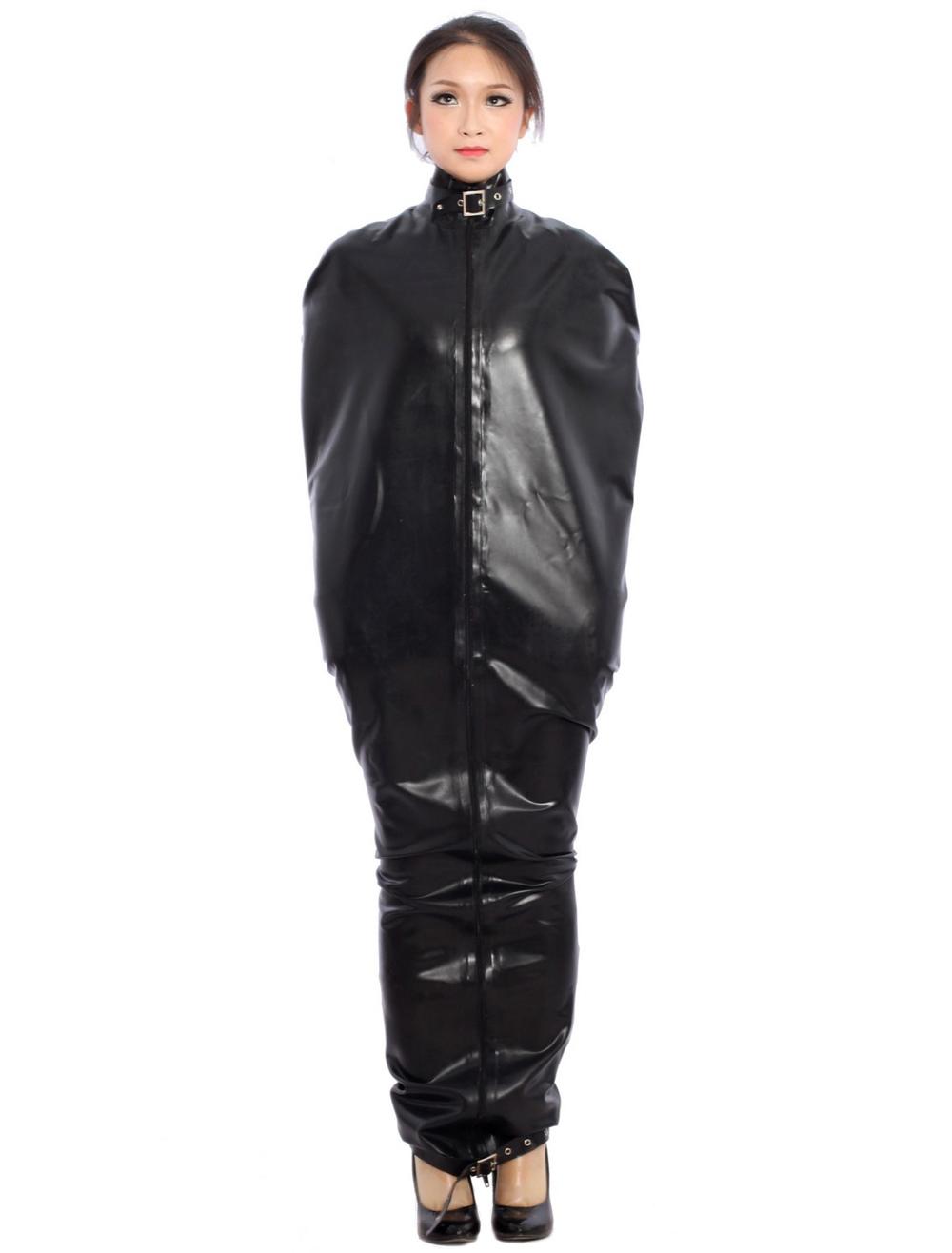 Halloween Special Buckle Black Latex Catsuit Halloween