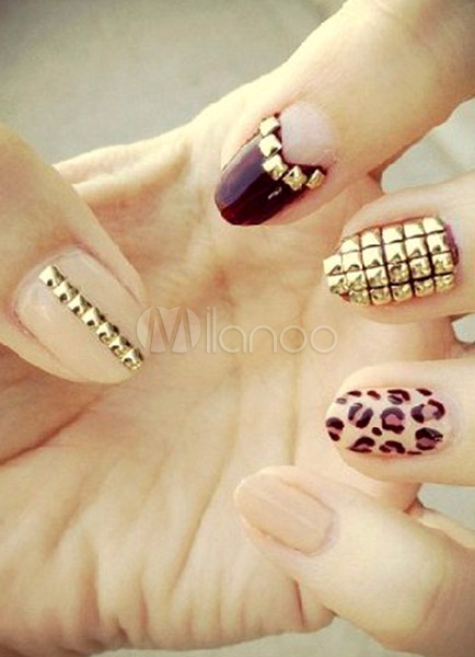 Fashion Metallic Acrylic Nails And Tips Cheap clothes, free shipping worldwide