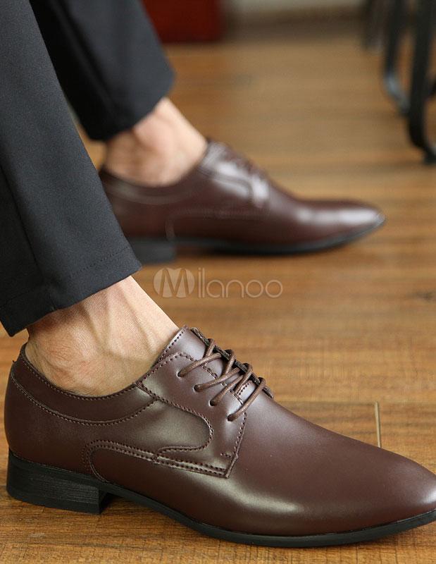 62d0a679a4 Pizzo elegante marrone mandorla Toe vacchetta Abito scarpe per uomo