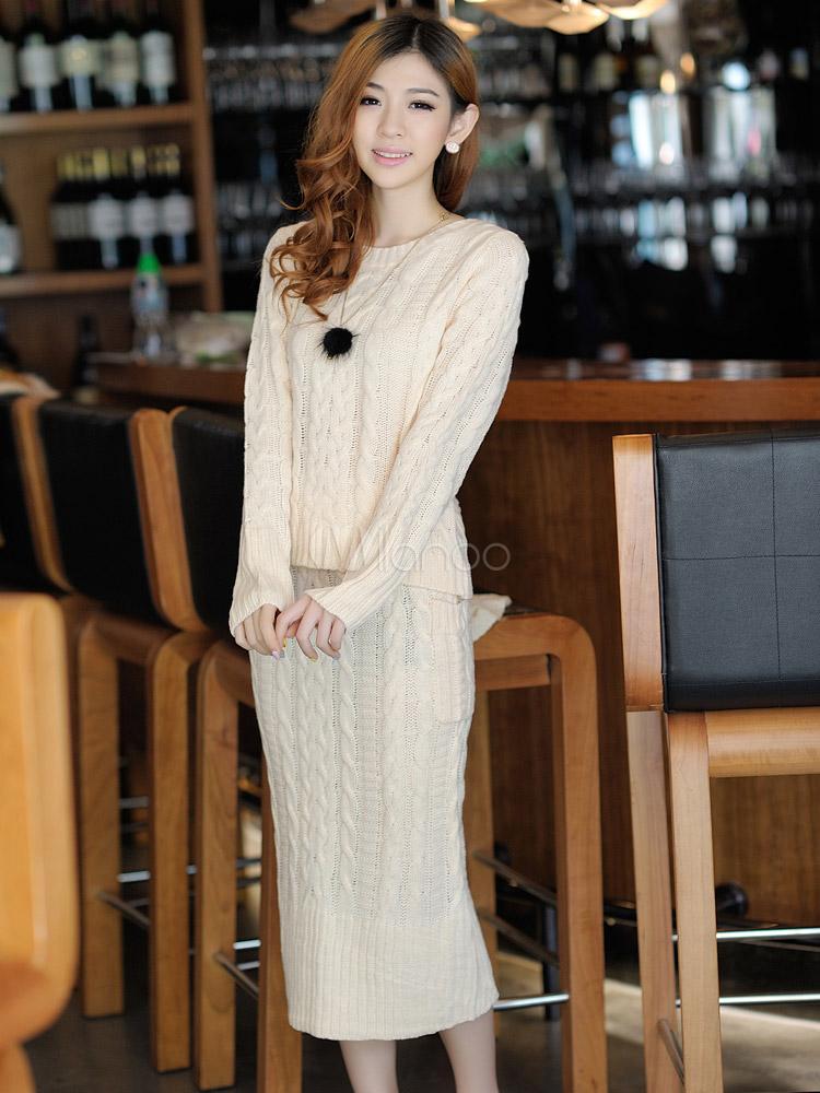 tricoter robe en laine