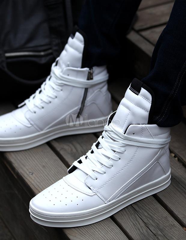 zapatillas adidas botines blancos