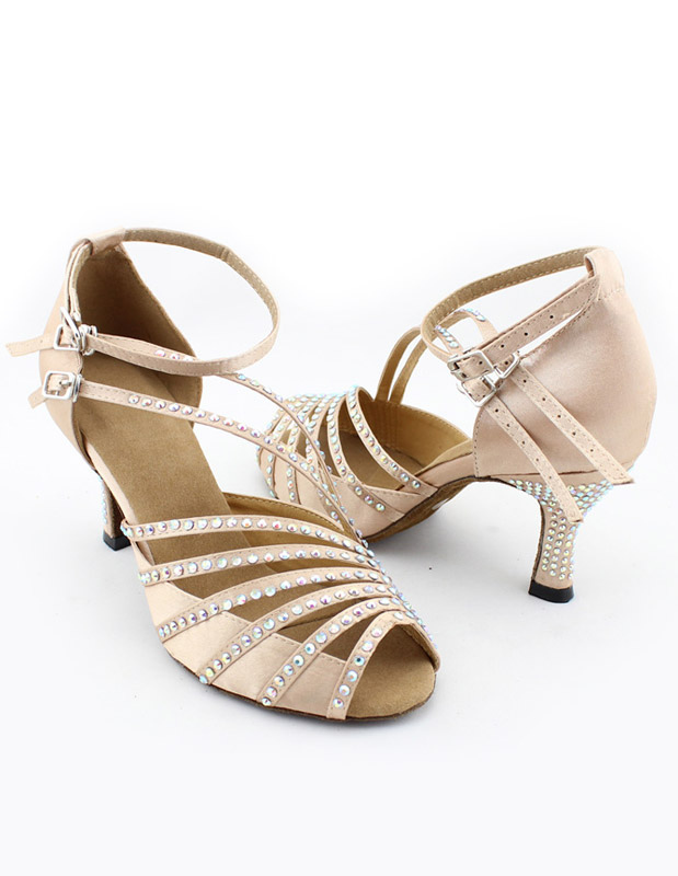 Zapatos de bailes latinos de color nude idFiqlUx