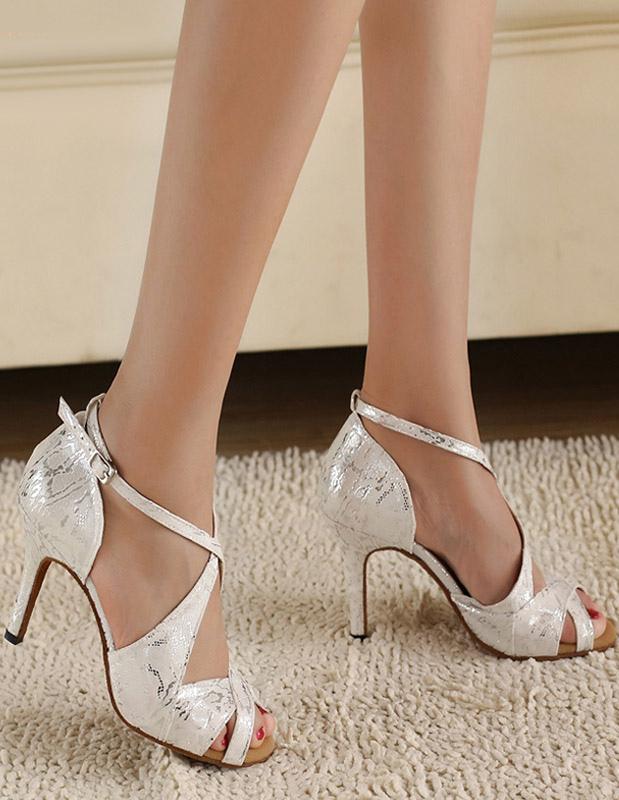 Klassische Latein Schuhe in Silber - Milanoo.com 00d2f9841f