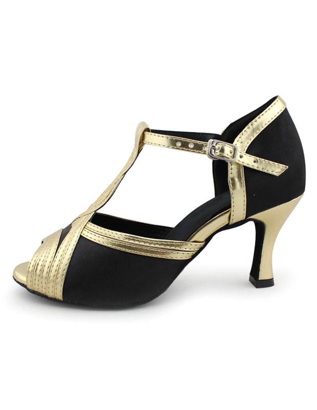 Zapatos de bailes latinos negros Color liso cómodos H2Hd48lmcG