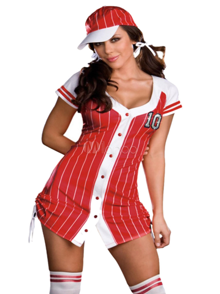 ... dead baseball player halloween costume; halloween y vertical stripe red polyester hot cheerleader costume ...  sc 1 st  The Halloween - aaasne & Baseball Halloween Costume For Women - The Halloween