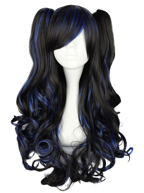 Buy Long Curly Multi Color Rayon Lolita Wig for $53.99 in Milanoo store