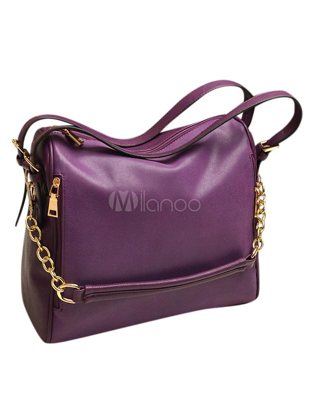 16148ffebe Frangia vera pelle catena Cross Body Bag per le donne - Milanoo.com