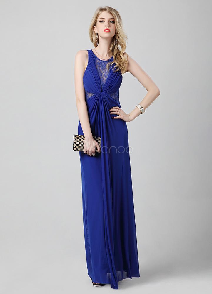 Abendkleid in k nigsblau - Milanoo abendkleider ...