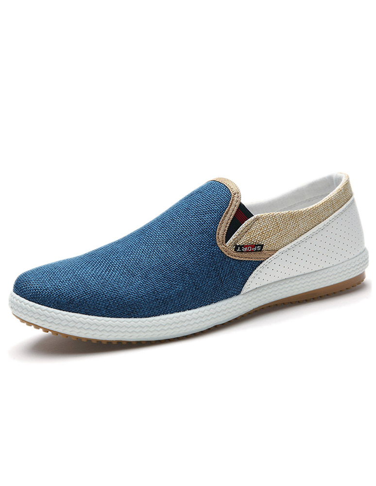 Milanoo / Two Tone Loafers Men's Round Toe Slip On Loafers