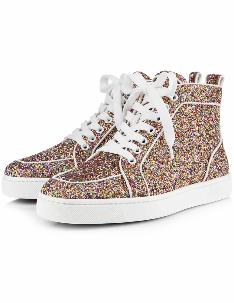 info for d0a38 7c44e Gold Sequined Sneakers