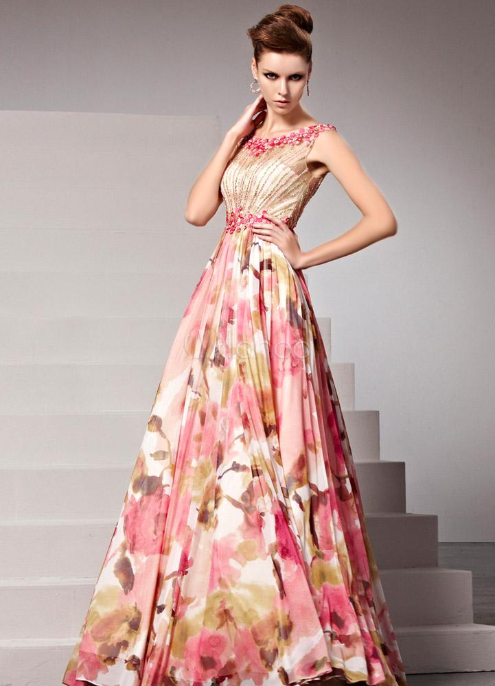 Robe de soiree fleurie