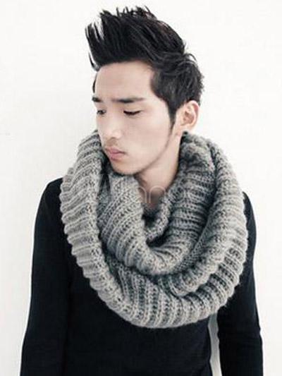 Große stricken Baumwolle Mode Schal für Männer - Milanoo.com