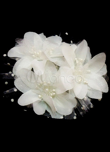 Buy Wedding Flower headpieces Ivory Bridal hair accessories for $2.99 in Milanoo store