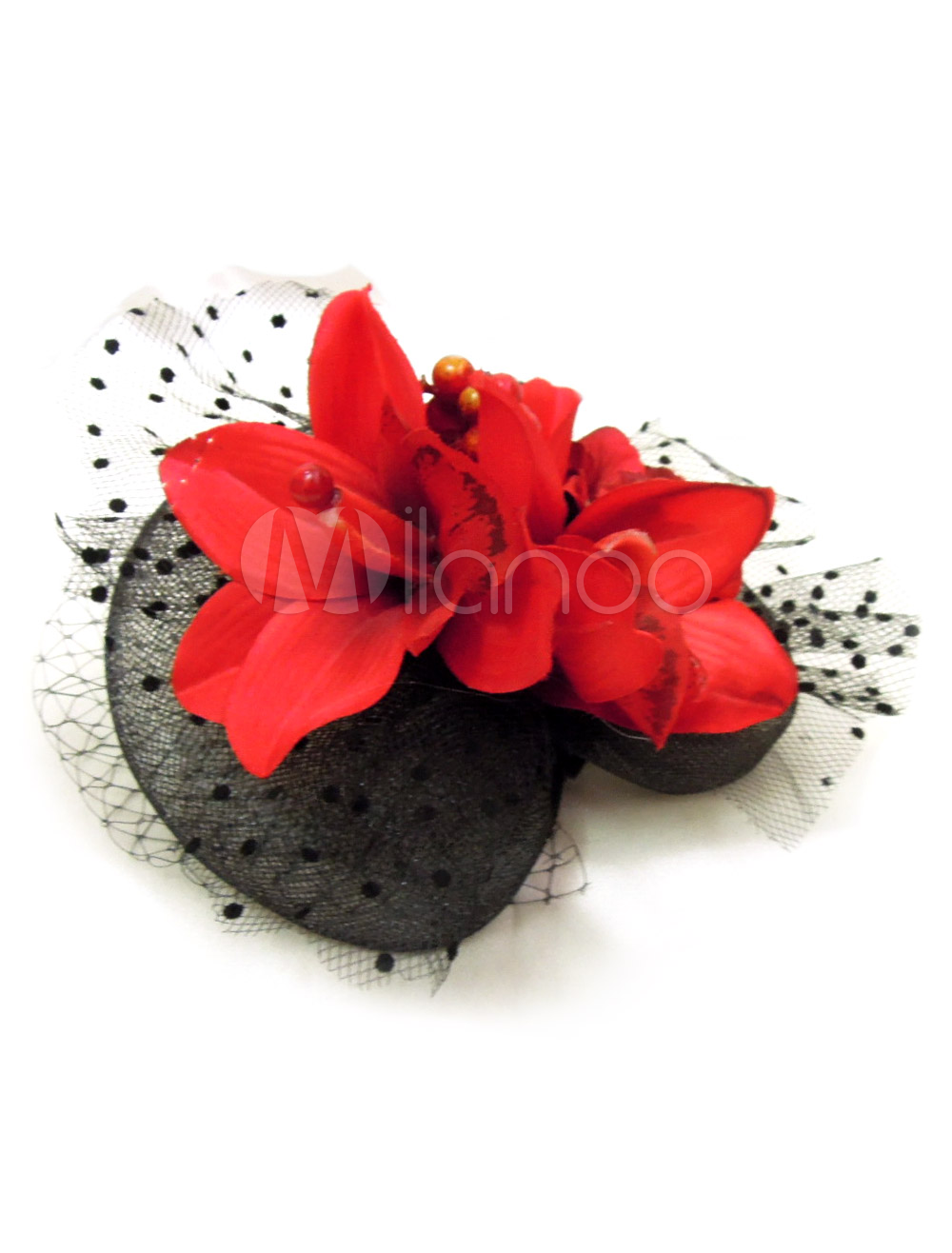 Black Feather Mesh Pretty Bridal Head Flower