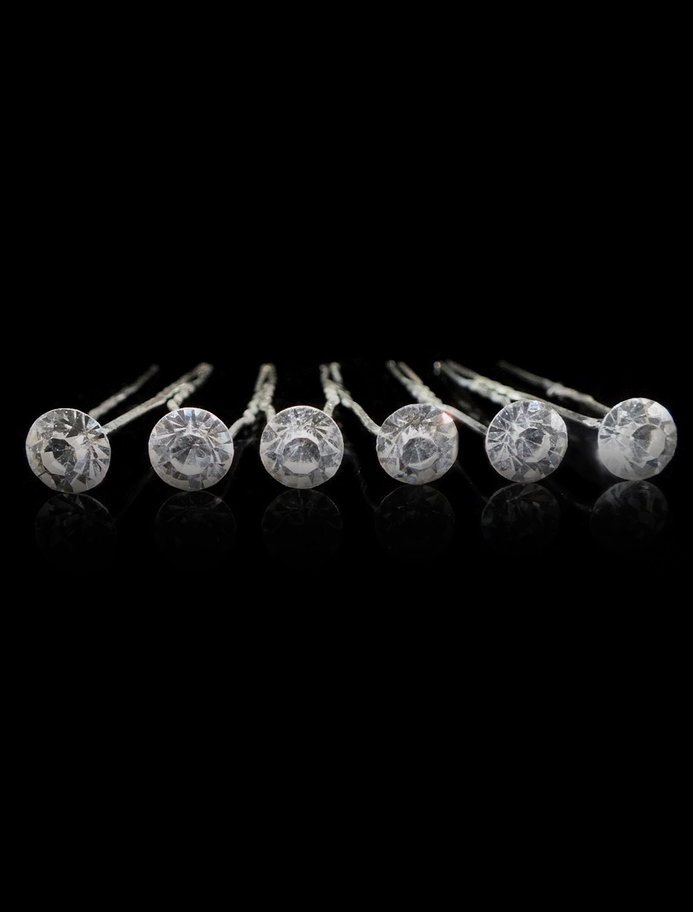 Buy 6-Piece Metal Fashion Round Brilliant Rhinestone Bridal Hairpin for $8.09 in Milanoo store
