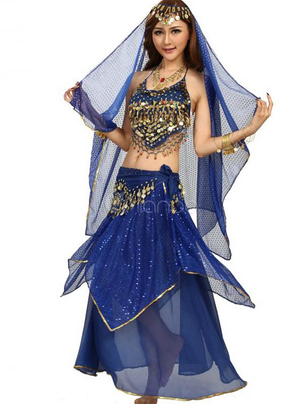 Costume da danza del ventre in chiffon femminile affascinante-No.1 ... 5e888c67a73