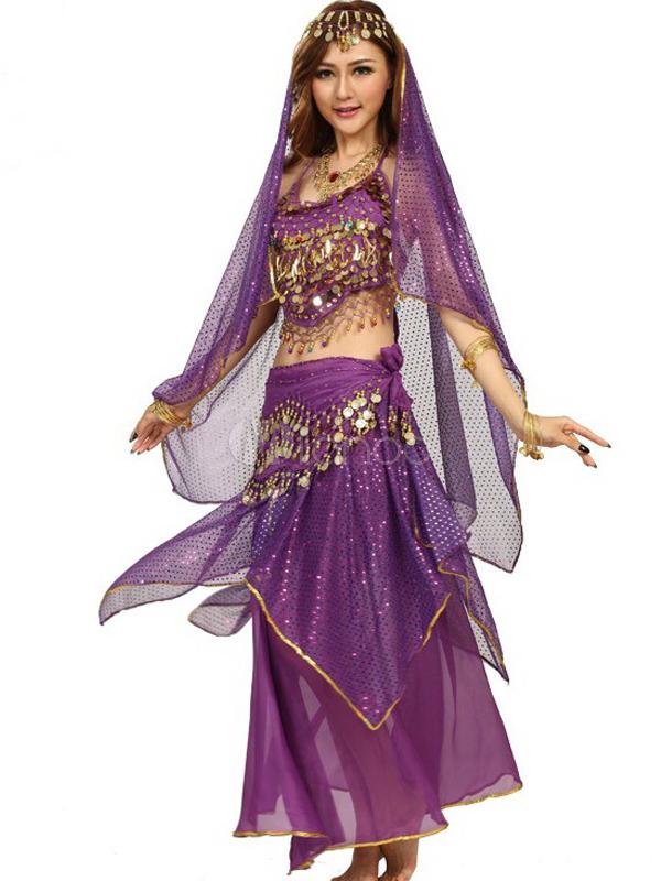 ... Costume da danza del ventre in chiffon femminile affascinante-No.3 ... 9e2cb6de6ef