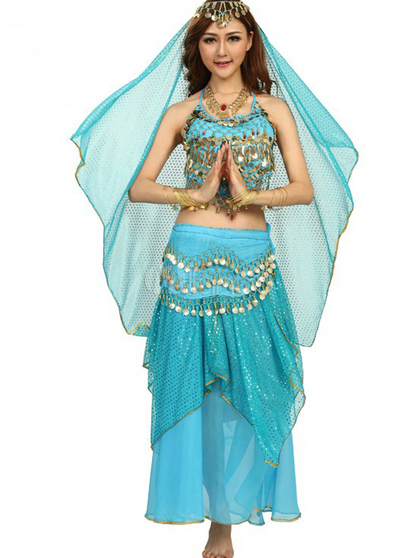 ... Costume da danza del ventre in chiffon femminile affascinante-No.2 ... 47c26514405