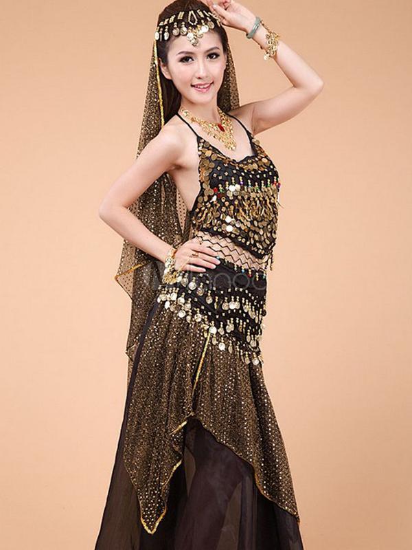 ... Costume da danza del ventre in chiffon femminile affascinante-No.5 ... b848cf0d4f0