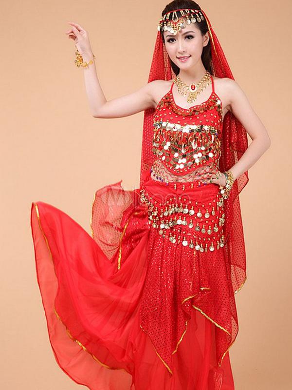 ... Costume da danza del ventre in chiffon femminile affascinante-No.4 ... 5ee783eb4a8