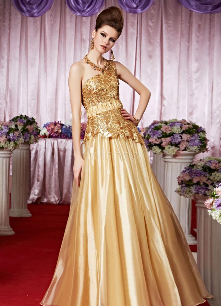 Vestidos de fiesta de color oro
