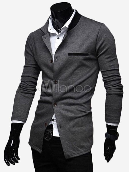 blazer homme en coton bicolore avec boutonnage devant. Black Bedroom Furniture Sets. Home Design Ideas