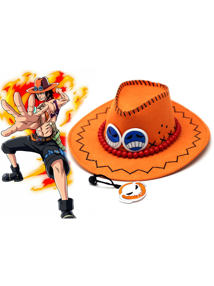 Buy One Piece Ace Halloween Cosplay Hat Portgas D Ace Hat Halloween for $13.79 in Milanoo store