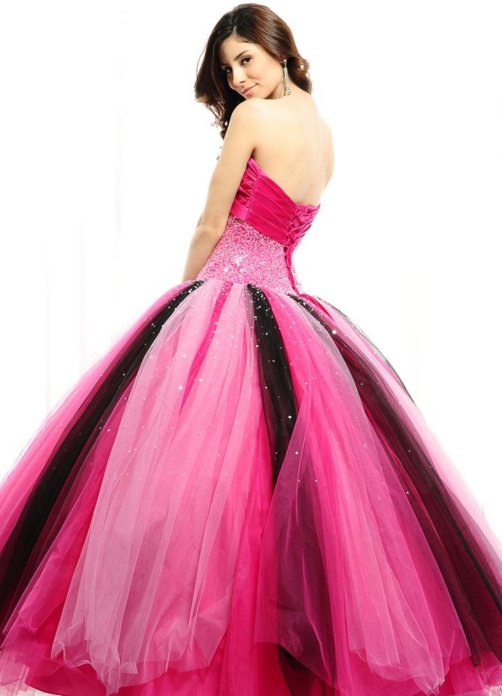 Fuchsia Ball Gown Sweetheart Floor Length Quinceanera