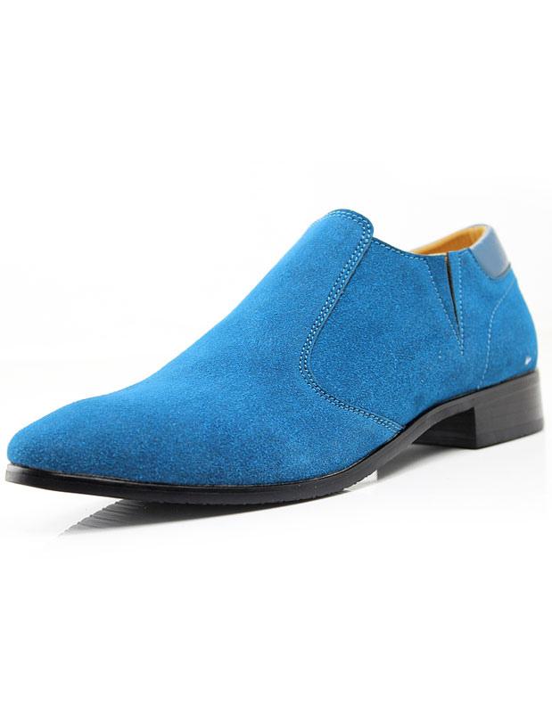 En Chaussures Ciel Bout Pointuu Clair Suédé Cuir Bleu De 7ygvYbf6