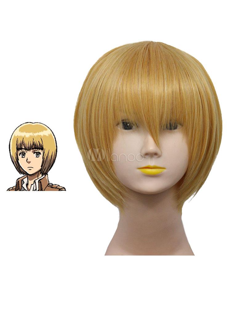 Buy Attack on Titan Shingeki no Kyojin Armin Cosplay Wig Halloween for $15.99 in Milanoo store