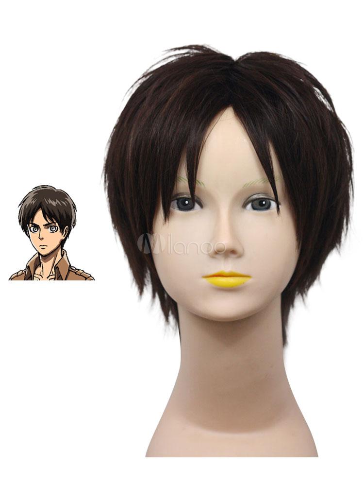 Buy Attack on Titan Shingeki no Kyojin Eren Jaeger Cosplay Wig Halloween for $19.79 in Milanoo store