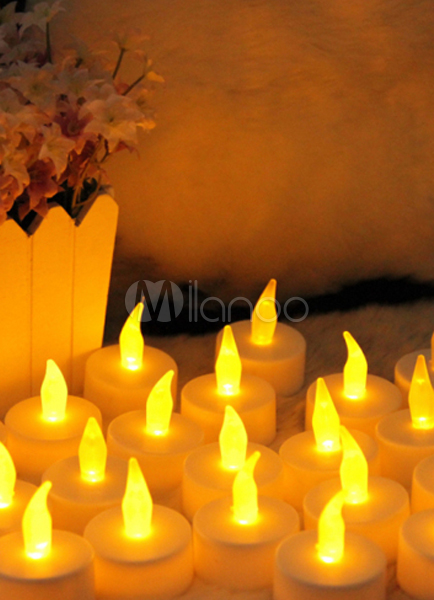 Buy 10-Piece Plastic LED Wedding Candles for $9.59 in Milanoo store