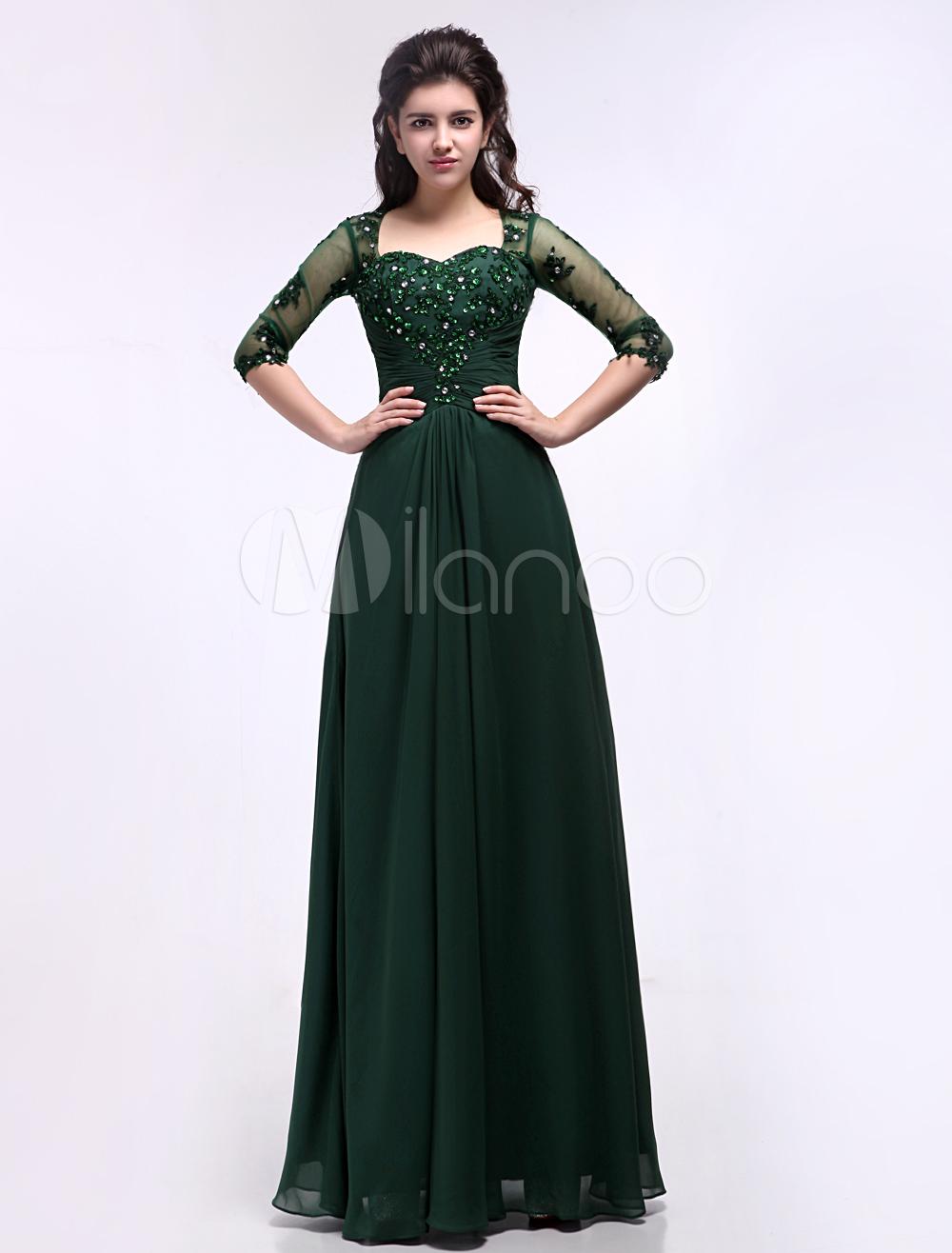 Green Full Length Dresses