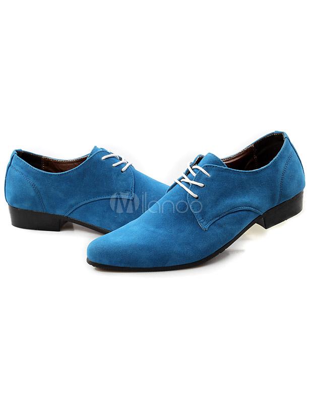 Zapatos Piel Celeste Claro Sintética Puntiagudos De N0ymvnO8w