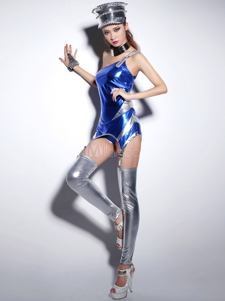 Trajes de danza Jazz sintético azul - Milanoo.com e04deb951a6