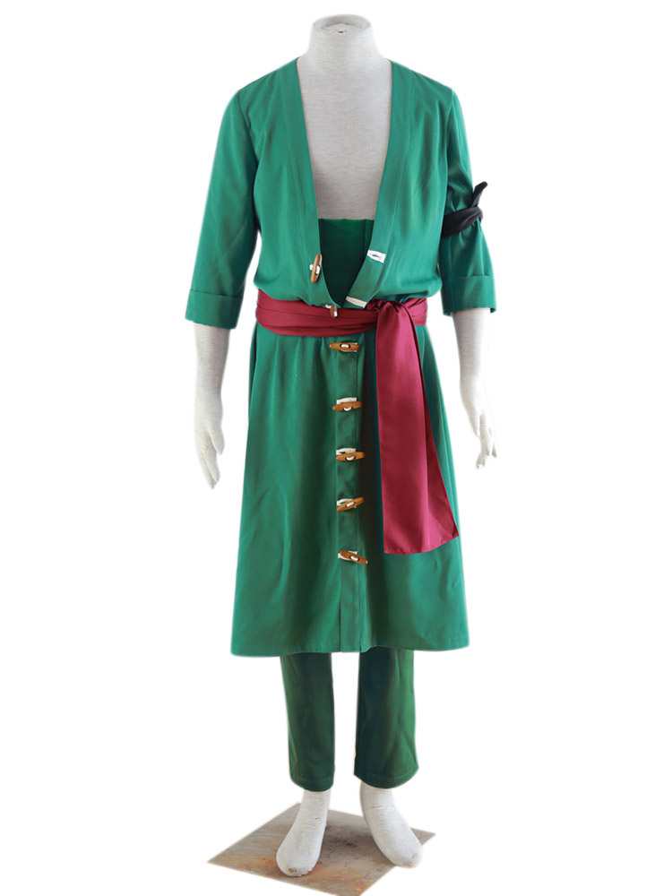 Buy One Piece Roronoa Zoro Halloween Cosplay Costume Halloween for $73.99 in Milanoo store