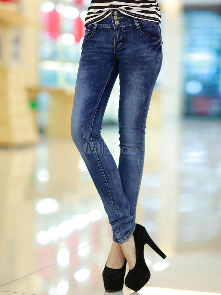 Solid Denim Moderne Jeans Blau Damen Skinny dWQoexrCBE
