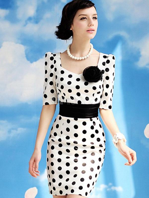 Imagenes de vestidos con lunares
