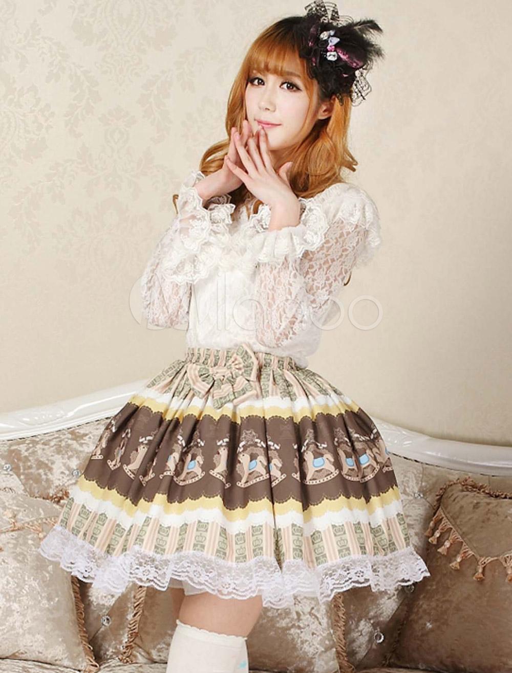 Chocolate Lace Fantastic Lolita Skirt