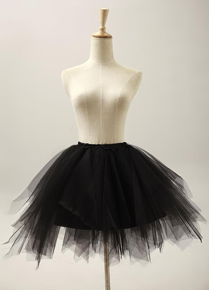 Buy Black Three-Tier Great Short Flare Slip Bridal Wedding Petticoat for $19.99 in Milanoo store